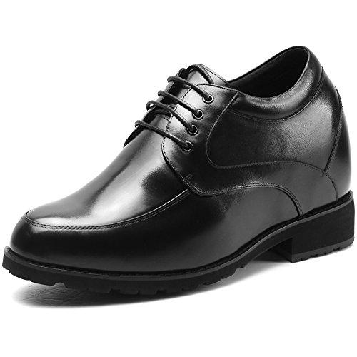 Chamaripa eleganti scarpe con rialzo interno stringate derby uomo affari commerciali fino a 12 cm - h72d28k011d