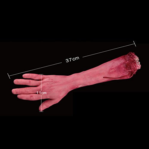 Aulley Scary Bloody Horror Halloween Dekor Stütze Fake Getrennt Lifesize Arm Hand (Arm Körperteile)