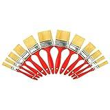 kingorigin Lackierpinsel-Set 12-teilig | Flachpinsel für Lasur, Acrylfarben und Wasserlacke| 12 Stück Lasurpinsel | Pinselset