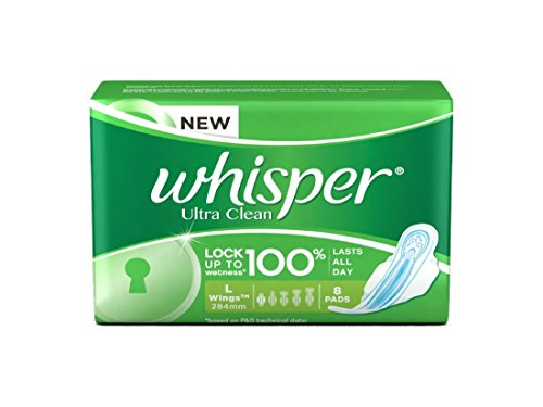 whisper Ultra Clean - L Wings (8 Pads)  available at amazon for Rs.72