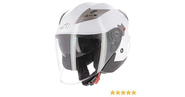 gloss white S Astone Helmets casque de moto en polycarbonate casque de moto jet casque jet homologu/é DJ9 monocolor- Casque jet