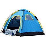 Jukkre Portable Tent for 6 Person Outdoor Tent Camping Waterproof Tent (Multi Color)