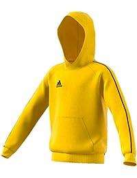 adidas Core 18 Hoody Sudadera con Capucha, Niños, Yellow/Black, 164
