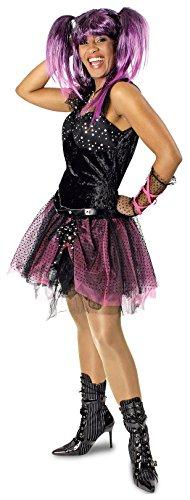 narrenkiste K31250422-36-38 Damen Punker Kostüm-Kleid Rockerin Gr.36-38