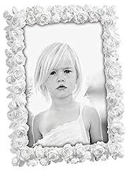 Idea Regalo - Mascagni Casa- Cornice Portafoto Formato 13X18 Colore Bianco A Fantasia Rose 286, Multicolore, 8003426021477