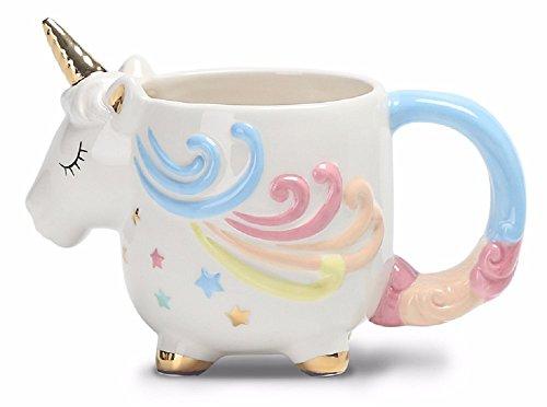 Magical Unicorn-shaped Mug With Beautiful Hand Painted Finish