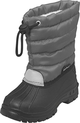 Playshoes Winterstiefel, Moonboots, Schneeschuhe für Kinder, mit Warmfutter, Jungen Schneestiefel, Grau (33 grau), 20/21 EU