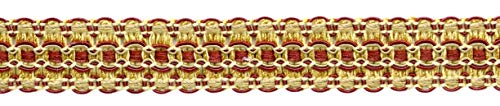 DecoPro 16,5 m Package, 25 mm breit, Kamelgold, Beachwood Gold, Dark Rost, Gimp Braid Borte, Style # 0100VG, Farbe: Golden Harvest - VNT31 (18 Fuß)