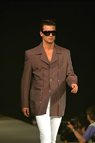 701072 Male In Brown Jacket White Trousers And Dark Sunglasses A4 Photo Poster Print 10x8