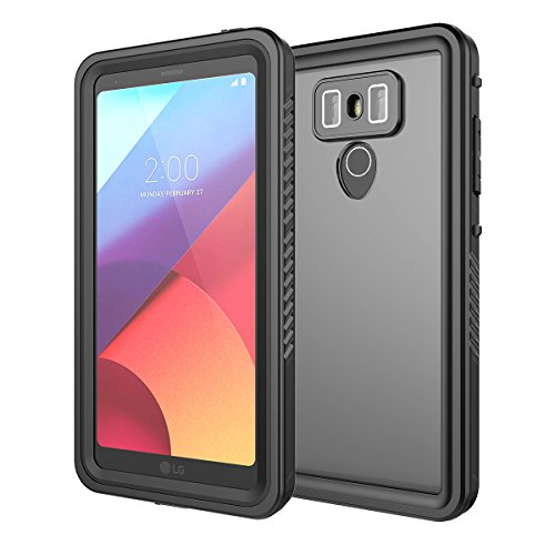 LG G6 Waterproof CaseCasefirst Heavy Duty Back Shell [ IP68-Certified ] Backcover Back Shell Screen Protector Cover for LG G6 [Black ]