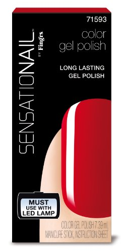 Sensationail Vernis Gel Semi Permanent Scarlet Rouge 7,39 ml
