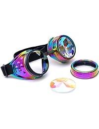 caleidoscopio gafas mujer con vidrio colorido caleidoscopio juguete niños gafas de sol hombre polarizadas gafas de