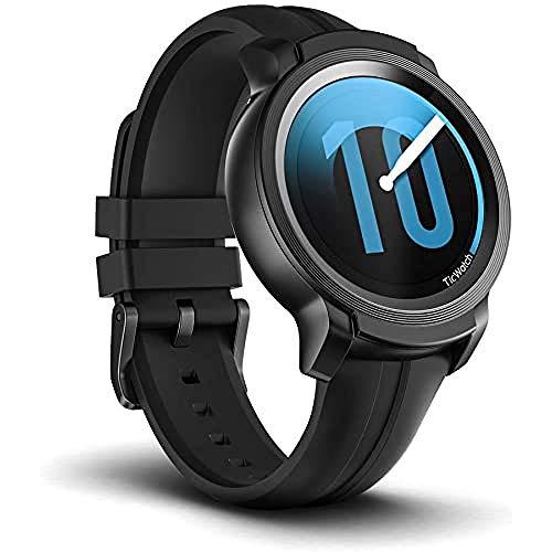 Oferta de Ticwatch E2 Smartwatch, 5 ATM a Prueba de Agua, Apto para Nadar, GPS Incorporado, Monitor de frecuencia cardíaca, Asistente de Google, música, Wear OS by Google Fitness Smart Watch