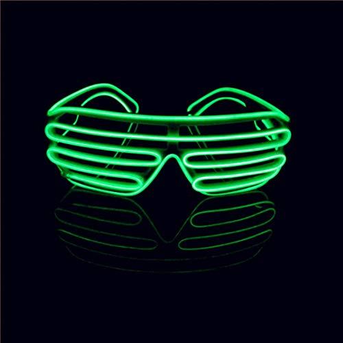 Gruppe Kostüm Sehr Große - Lerway EL Draht Neon Wire Leuchtbrille LED Partybrille Sonnenbrille für Weihnachts Dekoration, Neujahr Club, Bar Disko, Kostüm Konzert Rave