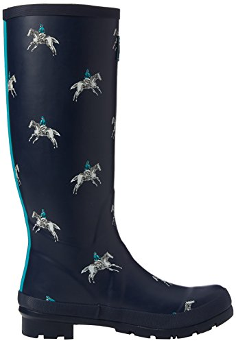 Joules - Wellyprint, Stivali da pioggia Donna Blue (French Navy Horse Rider)