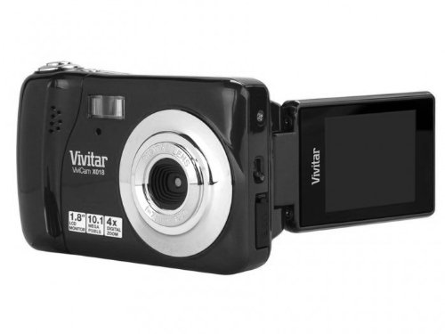 Vivitar iTwist X018 10 Megapixel Digital Kamera – Schwarz (10MP, 1,8″ Screen, 4x Zoom)
