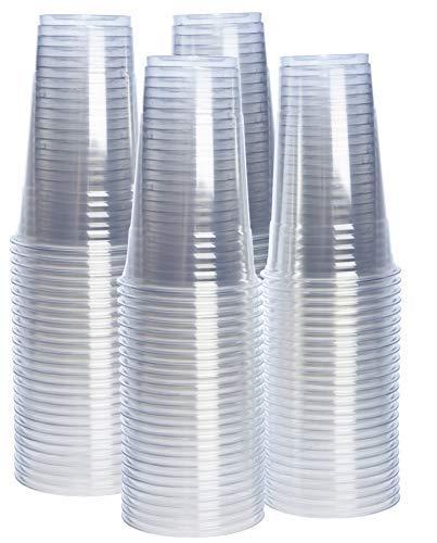 Peng Sheng [100 Packungen - 12 oz. Becher aus PET-Kunststoff, transparent, 24 oz. 24 Oz Crystal