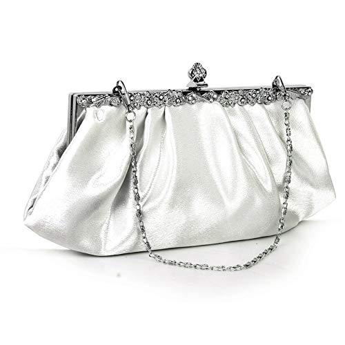 Lusesky hot fashion ivory party strass decorazione clutch bag banchetto borsa a mano abito da sposa con 2 cinturini a catena