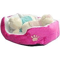 Doitsa 1Pcs Cama para Mascotas para Perro Gato Lindo Suave Cama de Perro de Forma Redonda