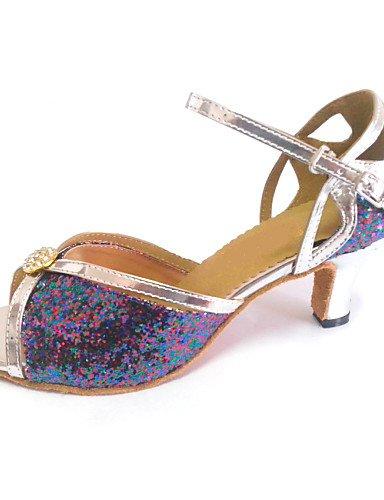 La mode moderne Sandales femmes Sandales personnalisées d'Amérique latine Chaussures de Danse Talon personnalisées avec Rhinestone Buckle US5/EU35/UK3/CN34