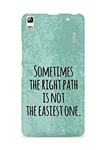 AMEZ the right path is not easy Back Cover For Lenovo A7000