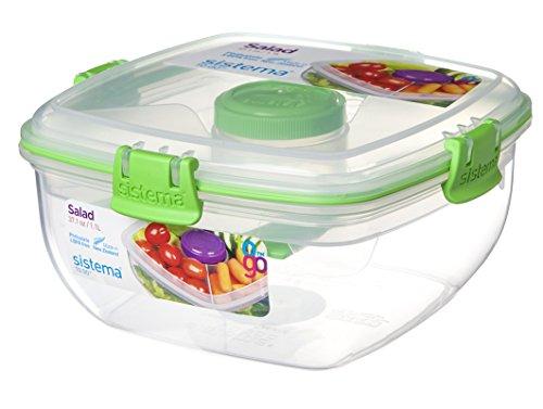 Sistema 55115 recipiente per cibo scatola rettangolare 2 l nero, trasparente
