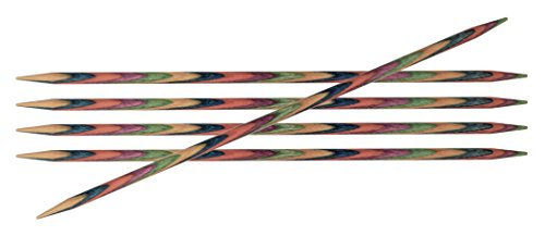 KnitPro 15 cm x 4 mm Symfonie Double Pointed Needles, Multi-Color