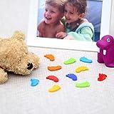 Bütic GmbH Plexiglas® Streudeko - Füße - Wurfdeko, Tischdeko 30mm glänzend - Auswahl, Anzahl:10 Stück, Farbe:Bunt