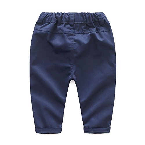 Chaqueta Chaleco QUICKLYLY 3pcs Infantil Ni/ño Beb/é Chicos Largo Manga Bowtie Blusa Mameluco Tops Pantalones Trajes Conjunto
