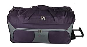 5cities 21 27 30 33 34 Wheeled Holdall Trolley Travel Bag Luggage On Wheels Plumgrey 30 Inch