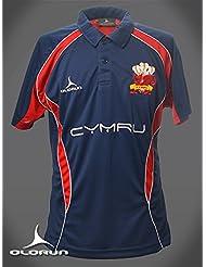 Gales Rugby Seguidores Polo Camisa S–XXXXL Olorun Gales camiseta de Rugby para hombre, azul marino, medium