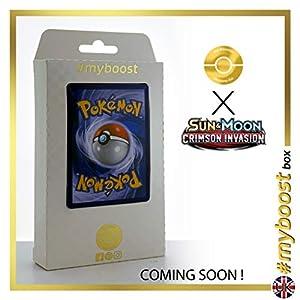 Salazzle 47/111 Holo - #myboost X Sun & Moon 4 Crimson Invasion - Box de 10 Cartas Pokémon Inglesas