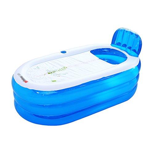 Baignoire Gonflable Adulte Bleu Baril de Bain de ménage Épaississement en Plastique Baignoire pour Enfants Baignoires et sièges de Bain (Size : 130 * 77 * 64 cm)