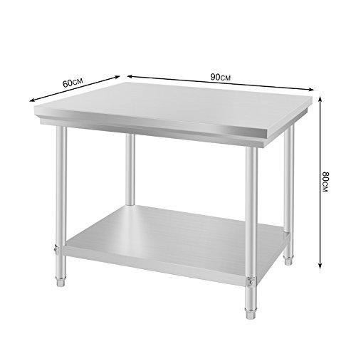 Buoqua 60x90x80cm tavolo da lavoro per cucina - Tavolo lavoro cucina ...