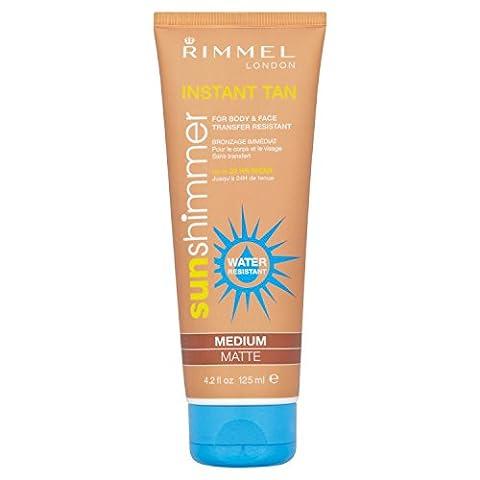 Rimmel London Sun Shimmer Medium Matte Water Resistant Instant Tan Makeup Tube 125 ml