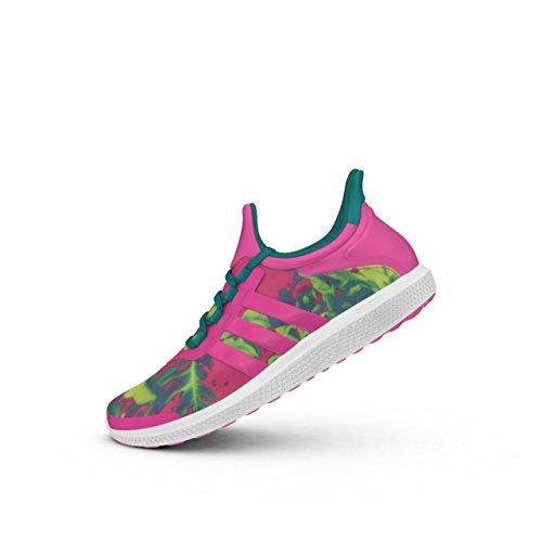 Adidas Damen CC Sonic W Tennisschuhe, Mehrfarbig (Rosa / Verde (Rosimp / Rosimp / Eqtver), 39 1/3 - Rosa Tennisschuhe