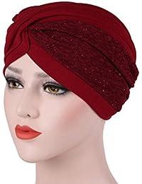 11d873dc3fc0 Fulltime® Femmes Inde Musulman Ruffle Hat Beanie Écharpe Turban Head ...