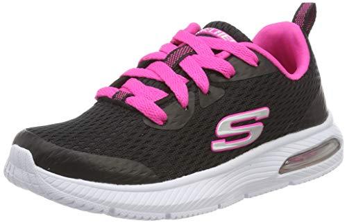 Skechers Mädchen Dyna-air-Jump Brights Sneaker, Schwarz (Black Hot Pink BKHP), 30 EU