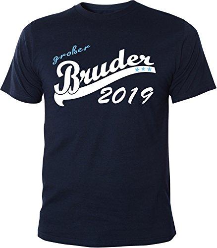 Mister Merchandise Herren Men T-Shirt Großer Bruder 2019 Tee Shirt bedruckt Navy