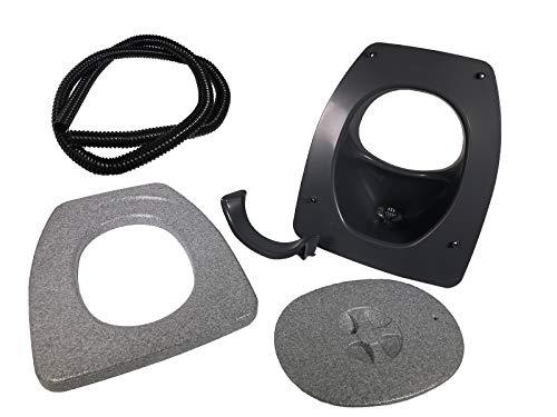 Separett 'Privy 500' Kompostkloaufsatz für Trockentrenntoilette Trennsystemeinsatz Urinschlauch Wärmesitz grau