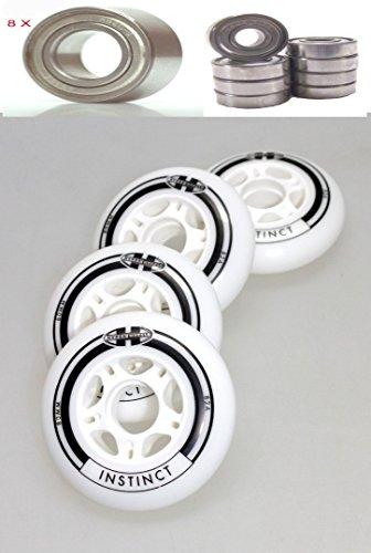 Hyper 4er Set Instinct Rolle 80mm Inliner Skates + Kugellager ABEC 9 für K2 Rollerblade Salomon Nike Fila Roces Skates