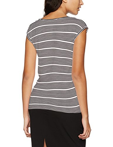 Only Damen T-Shirt Onlsannie S/S Top JRS Mehrfarbig (Black Stripes:CLOUD Dancer)