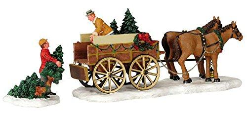Lemax - Christmas Tree Wagon - Pferde Wagon - Zubehör - Weihnachtswelt -