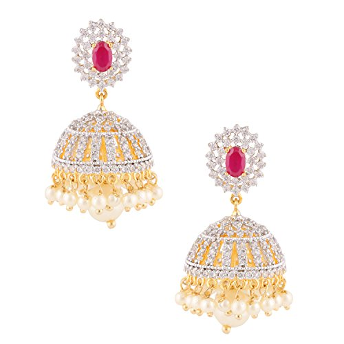 swasti-jewels-zircon-fashion-jewellery-bollywood-style-pearls-jhumka-earrings-for-women