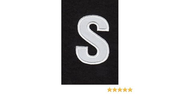 Thermo Badge La Mode Ecusson-zum Aufb/ügeln Alphabet Buchstabe U Farbe Wei/ß