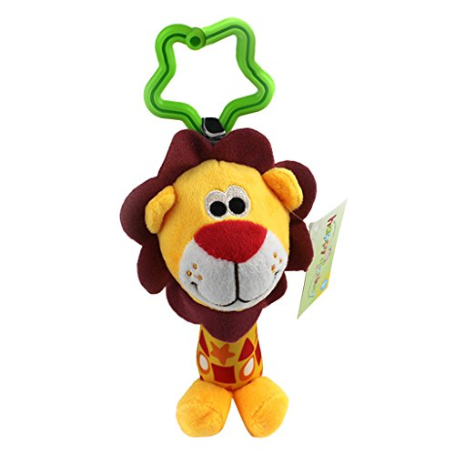 Nett Klirren Baby Spielzeug zum Aufhängen Glöckchen Krippe Kinderwagen Spielzeug - Löwe, one size