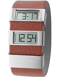 Philippe Starck Philip Starck - Reloj digital de cuarzo para hombre con correa de acero inoxidable, color dorado