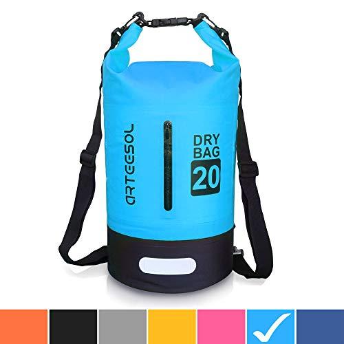 arteesol Dry Bag Wasserdichte Tasche 5L/10L/20L/30L Wasserfester Beutel Packsack mit Langen Doppeltem...