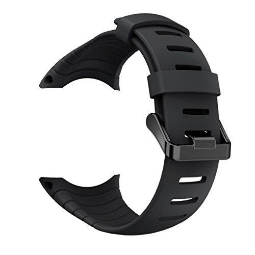 Bescita Neue Mode Sport Silikon Armband Uhrband Band Ersatz für Suunto Core (Suunto Core, Schwarz)
