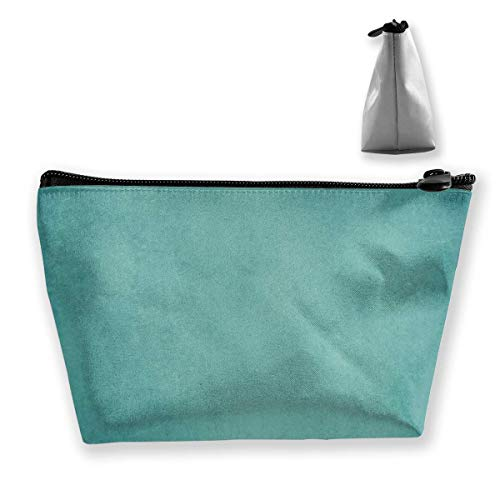 Blue Green Paper Womens Travel Cosmetic Bag Portable Toiletry Brush Storage High Capacity Pen Pencil Bags Accessories Sewing Kit Pouch Makeup Carry Case -